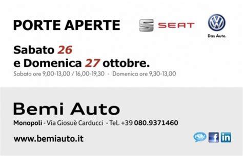 Porte Aperte Auto by Social Play Nel Week End Porte Aperte Bemi Auto Vieni A
