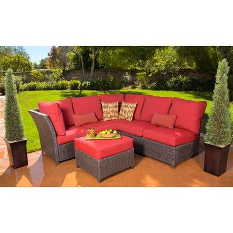 Sofa Set In Walmart by Rushreed 3 Outdoor Sectional Sofa Set Walmart