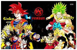 Goku Vs Broly, SSJ God Vs LSSJ by DarkUchihaSharingan on ...