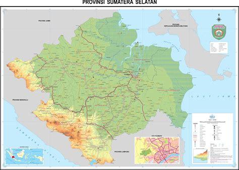 peta kota peta sumatera selatan hd