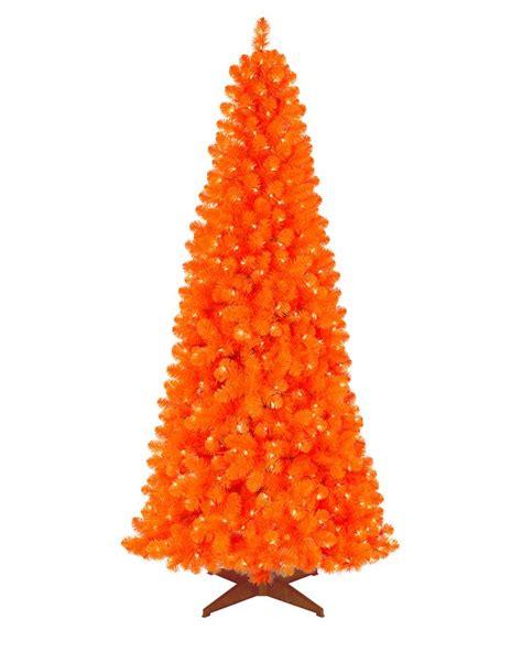 orange christmas tree ideas  pinterest orange