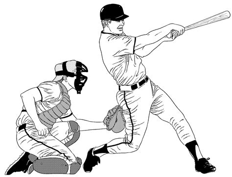 trends  baseball catcher coloring pages baseball