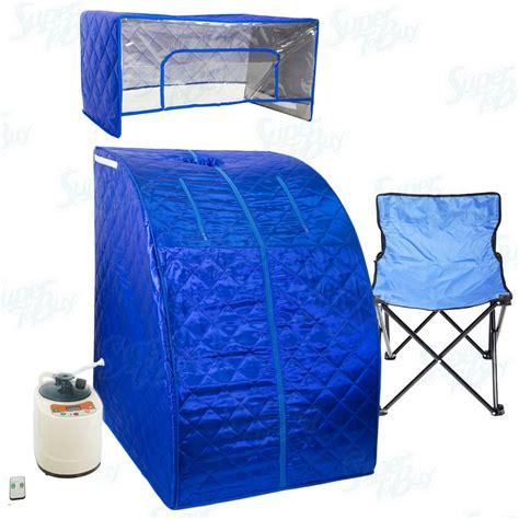 blue portable therapeutic personal steam sauna spa room