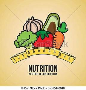 EPS Vector of nutrition design over pink background vector ...