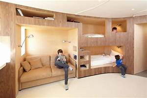 bunk rooms provide functional sleeping spaces time to build With built in sofa bed