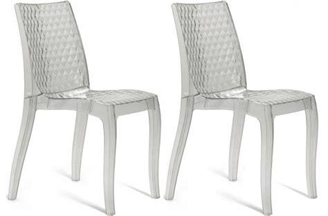 chaises transparentes pas cher lot de 2 chaises transparentes delphes chaise design pas cher