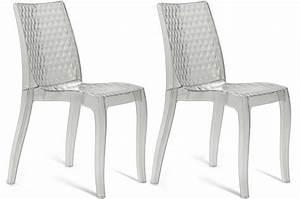 Chaise Transparente Fly : lot de 2 chaises transparentes delphine design sur sofactory ~ Teatrodelosmanantiales.com Idées de Décoration