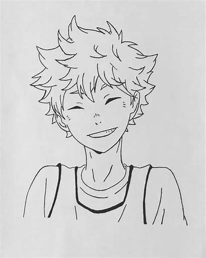 Haikyuu Hinata Drawings Anime Easy Drawing Draw