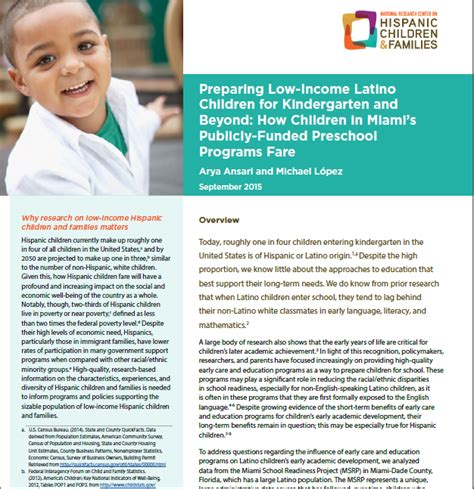 preparing low income children for kindergarten and 374 | MSRP Image