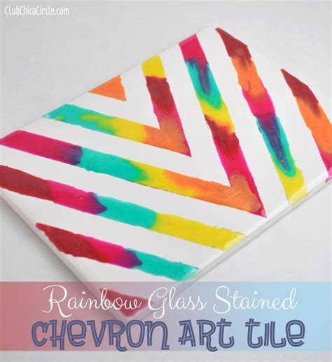 rainbow glass stained art tile project  images art