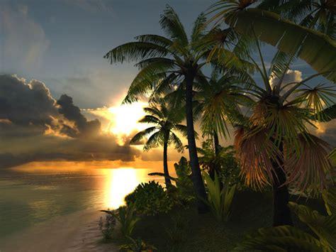 nature  screensavers lagoon  nice tropical getaway   computer