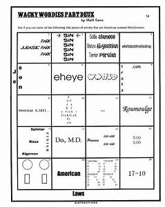 Printables  Wacky Wordies Worksheets  Mywcct Thousands Of