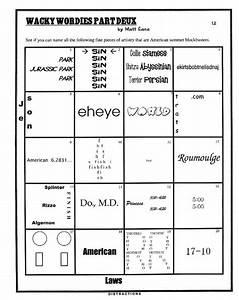 Printables  Wacky Wordies Worksheets  Mywcct Thousands Of Printable Activities