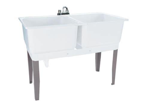 double sink laundry tub double basin laundry tub freestanding polypropylene