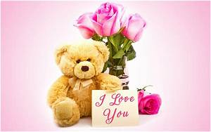 LOVE BEAR FLOWERS AND LOVE CARD HD WALLPAPER | 9 HD Wallpapers