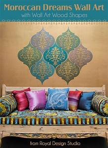 how to stencil moroccan dreams wall art wood shapes wall With moroccan wall art