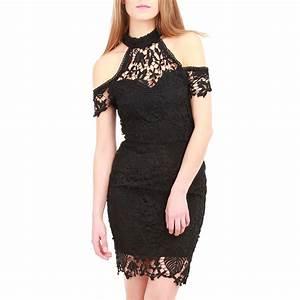 robe fourreau courte noire en dentelle femme pas cher la With robe en dentelle pas cher