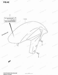 Suzuki Motorcycle 2003 Oem Parts Diagram For Front Fender