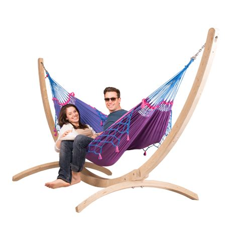 hängematte mit gestell h 228 ngematte mit gestell la siesta biobaumwolle fsc holz nachhaltig