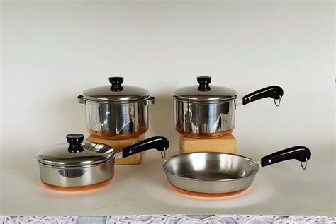 toy set   pieces  miniature paul revere copper bottom etsy cookware set paul revere