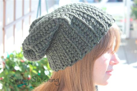 free crochet hat patterns sunny stitching slouchy hat crochet pattern