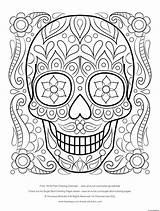 Skull Coloring Sugar Calavera Pages Thaneeya Printable sketch template