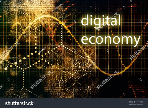 digital economy abstract business concept wallpaper