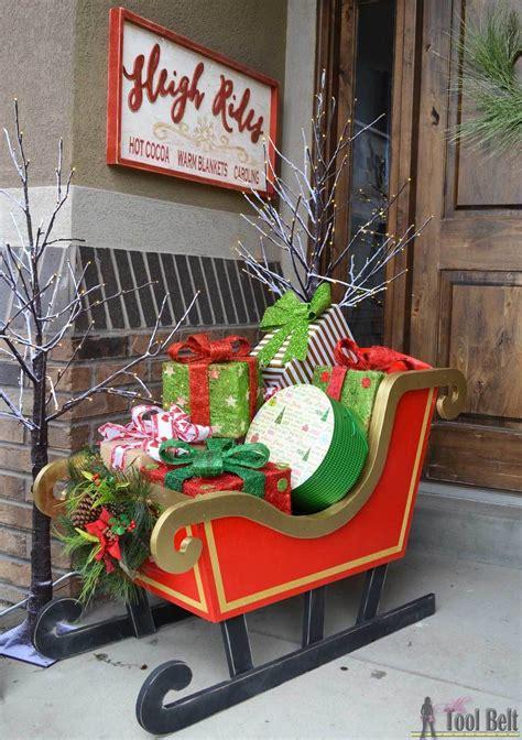santas diy wood sleigh ryobi nation projects