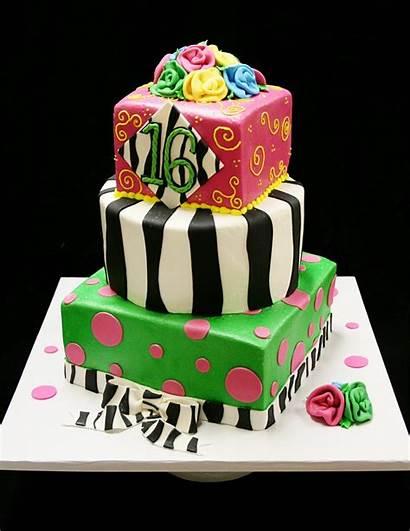 Sweet Cake Birthday Cakes Sixteen Decoration Happy