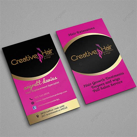hair business card template     pngtree