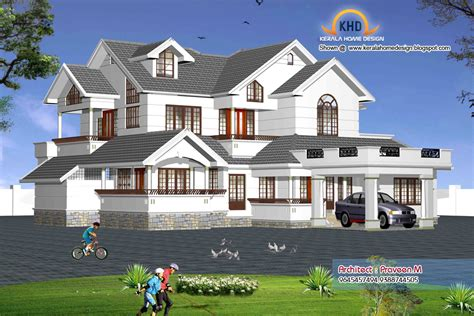 indian style home 3d renderings kerala home design and floor plans