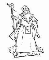 Wizard Coloring Pages Print sketch template