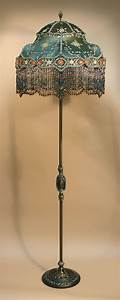 92 best images about antique floor lamps on pinterest for Antique floor lamp with fringed shade