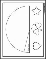 Cone Shape Hat Party Coloring Pages Cut Shapes Colorwithfuzzy sketch template