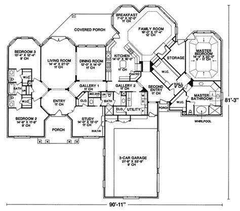 oakley manor luxury ranch home plan   house