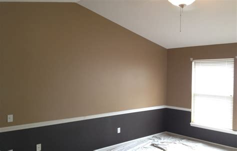 two tone bedroom with chair rail chair rail in bedroom for