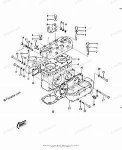 Kawasaki Jet Ski 1985 Oem Parts Diagram For Cylinder Head