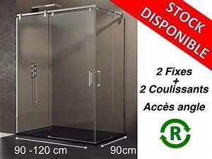 Porte Douche 90 : paroi de douche accessoires largeur 90 longueur 90 120 cm porte de douche coulissante avec ~ Nature-et-papiers.com Idées de Décoration