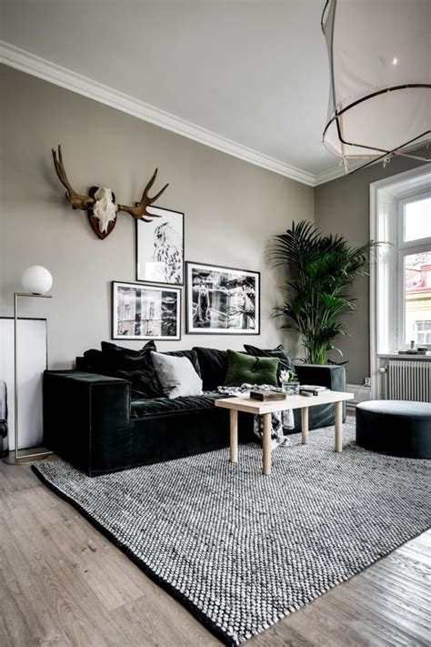 decor trend  contrasts  deep green