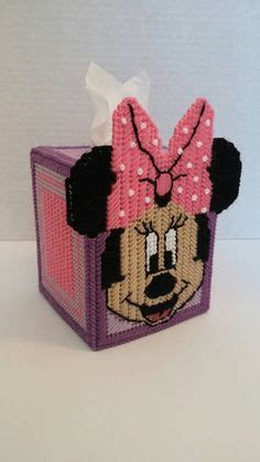 minnie mouse tissue box cover  plastic canvas pattern