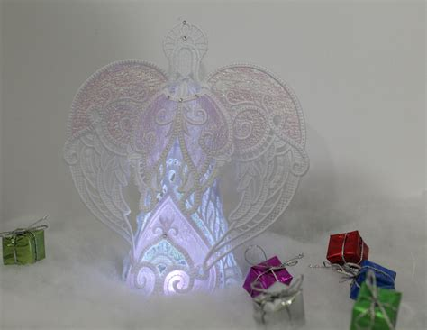 Pink Angel ~ Free standing lace ~ A and S Embroidery
