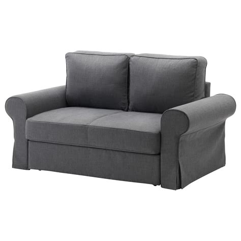canapé convertible 120 cm backabro two seat sofa bed nordvalla grey ikea