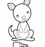 Kangaroo Coloring Pouch sketch template