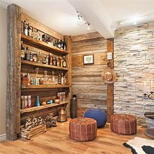 Bar En Bois : transfo moins de 500 coin bar en bois de grange salon avant apr s d coration et ~ Teatrodelosmanantiales.com Idées de Décoration