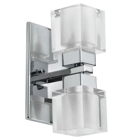 shop dainolite 2 light cube wall sconce silver