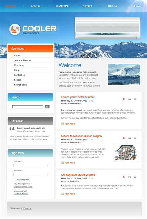 air joomlsa template air conditioning joomla template 24416