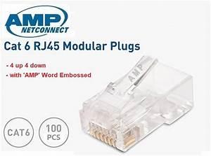 Amp Tyco Rj45 Cat6 8p8c Modular Plug  End 7  11  2020 6 15 Am