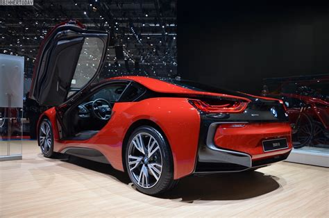 red bmw 2016 2016 geneva motor show bmw i8 protonic red edition makes