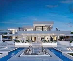 awesome maison moderne de luxe avec piscine images With amazing plan de maison cubique 12 interieure de maison moderne meilleures images d