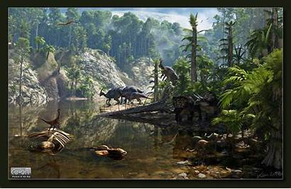 Jungle Dinosaurs Prehistoric Deviantart Dinosaur Dino Scenery